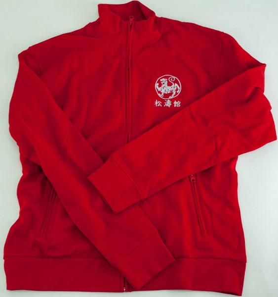 Sweatjacke Promodoro Rot, XL, bestickt in Weiß