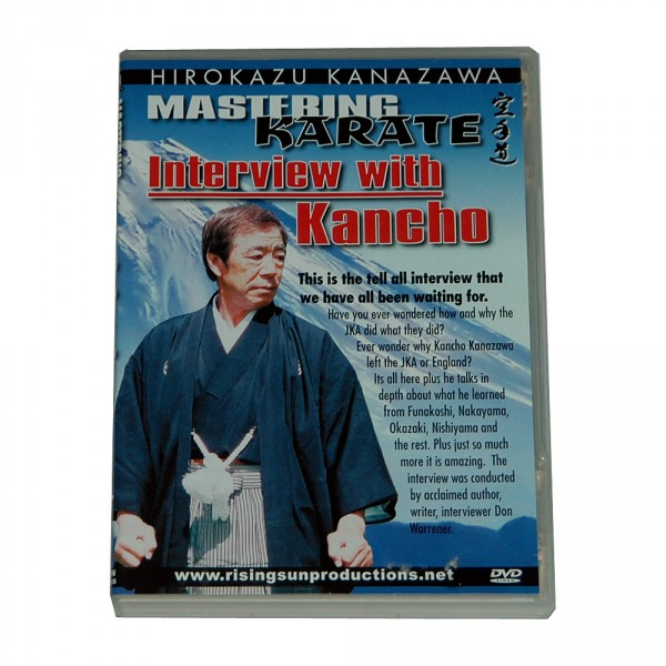 "DVD Kanazawa Mastering Karate Vol. 8 ""Interview with Kancho"""