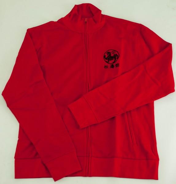 Sweatjacke Promodoro Rot, XL, bestickt in Schwarz