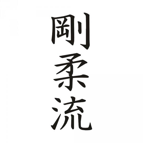 Aufkleber Goju Ryu Kanjis