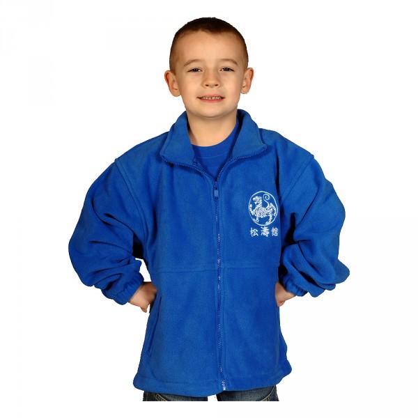 Kinder Fleece Jacke mit Bestickung