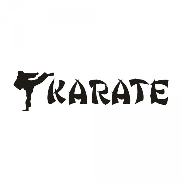 Aufkleber Karate 2